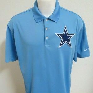 M-3XL Retro Dallas Cowboys Nike Dri-Fit 04M Polo